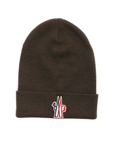 Moncler Grenoble - Ribbed beanie in army green