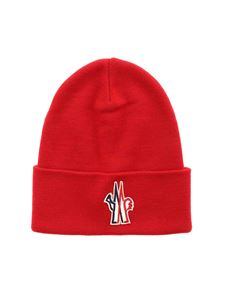 Moncler Grenoble - Ribbed beanie in red