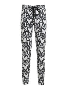 Love Moschino - Python printed fleeced pants in multicolor