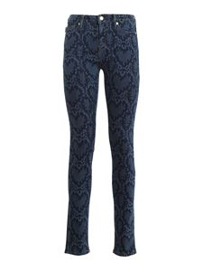 Love Moschino - Python printed jeans in blue