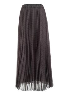 Parosh - Polka dots pleated skirt in anthracite color
