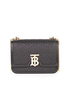 Burberry - Quilted bag in black with TB logo