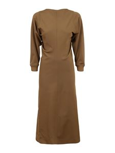 Givenchy - Draped dress in camel color