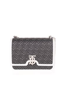 Burberry - Medium quilted TB bag in black with monogram
