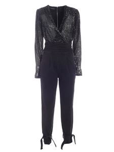 Pinko - Gloria sequins jumpsuit in black