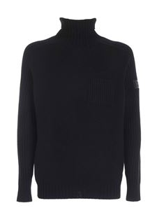 Hogan - Black high neck sweater featuring patch pocket