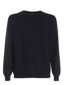 Hogan - Reverse seams pullover in black