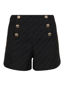Givenchy - Golden buttons detailed shorts in black
