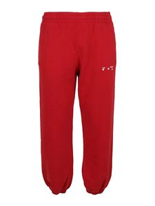 Off-White - Diag logo print tracksuit bottoms in red