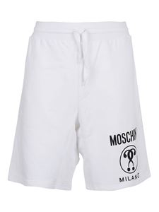 Moschino - Shorts stampa Double Question Mark bianchi