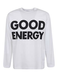 Moschino - T-shirt maniche lunghe Good Energy bianca