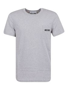 Moschino - Branded patch pocket T-shirt in grey