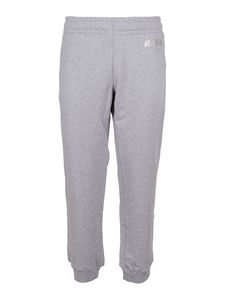 Moschino - Logo print tracksuit bottoms in grey