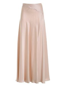 Clips - Satin skirt in nude color