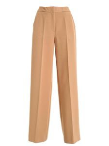 Clips - Palazzo pants in camel color