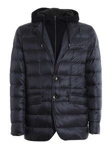 Herno - Removable double front padded jacket in blue