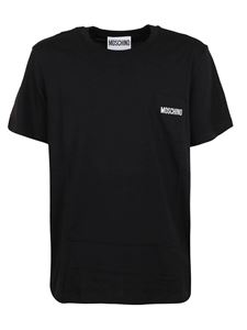 Moschino - Branded patch pocket T-shirt in black