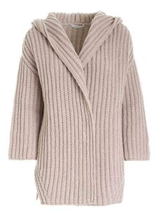 Kangra Cashmere - Hoodie cardigan in rope color