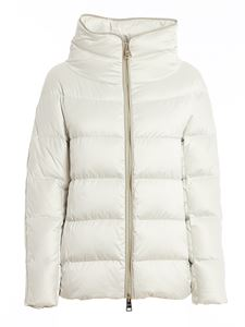 Herno - Silky touch fabric puffer jacket in white