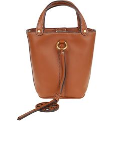 Tory Burch - Miller Mini bucket bag in camel color