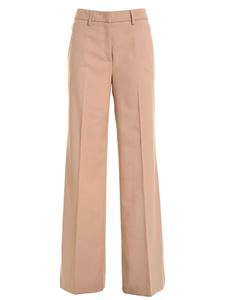 Blumarine - Camel-colored trousers featuring side straps