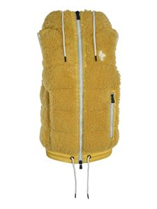 Moncler Grenoble - Teddy effect vest in yellow