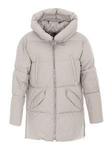 Moorer - Calliope padded coat in pearl grey color
