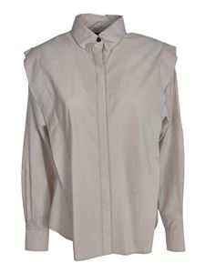Isabel Marant - Shirt with rouches in grey