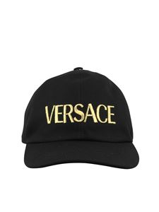 Versace - Logo embroidery baseball cap in black