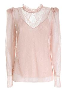 Blumarine - Floral pattern lace blouse in pink