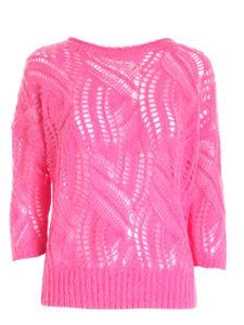 Blumarine - Tricot-effect pullover in pink