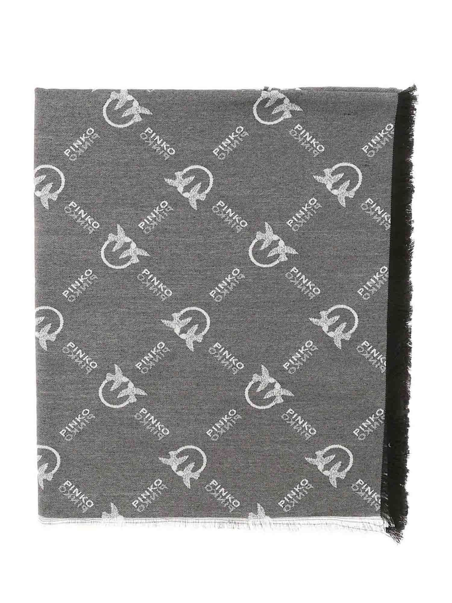 Pinko PINKO BREVIS 1 SCARF IN BLACK AND WHITE