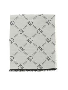 Pinko - Brevis 1 scarf in white and black