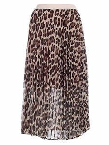 Semicouture - Camille animal print  skirt in shades of beige