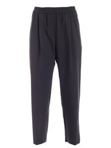 Aspesi - Elastic waist trousers in melange grey