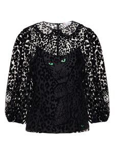 Red Valentino - Leo Panther patterned shirt in black
