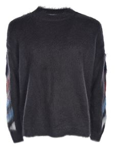 Off-White - Diag Brushed Mohair gray sweater