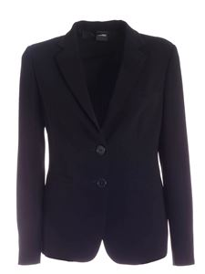 Aspesi - Single-breasted jacket in black