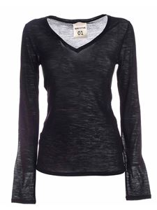 Semicouture - Edwige long-sleeved T-shirt in black