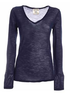 Semicouture - Edwige long sleeve T-shirt in blue