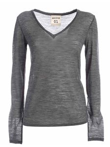 Semicouture - Edwige long sleeve T-shirt in grey
