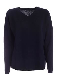 Aspesi - Wool pullover in dark blue