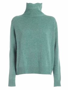 Aspesi - Wool pullover in aquamarine color