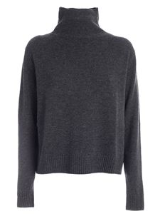 Aspesi - Wool pullover in melange grey