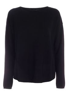 Aspesi - Crop over fit pullover in black
