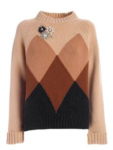 Semicouture - Florence pullover in shades of brown