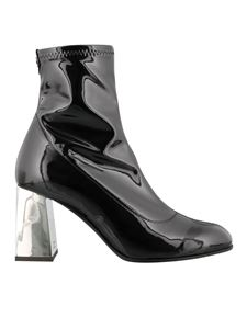 Giuseppe Zanotti - Patent stretch booties in black