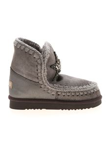 Mou - Eskimo 18 grey ankle boots featuring rhinestones