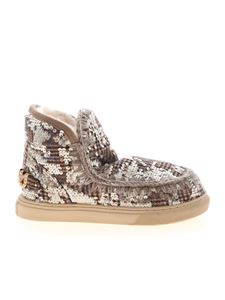Mou - Wool Plaid and Sequins sneakers in brown