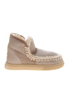 Mou - Laminated dove grey sneakers